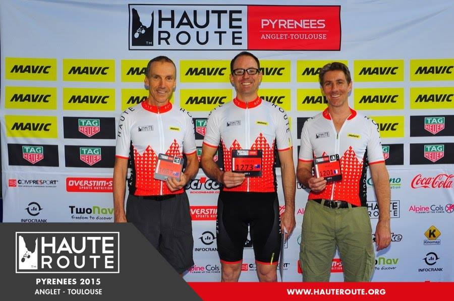 Three nervous West Australians at the starting line, Haute Route Pyrenees 2015